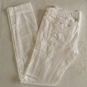 Refuge White Distressed Jeans Size 5